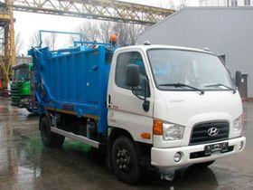 Вид 0: Hyundai HD 78 мусоровоз с задней загрузкой