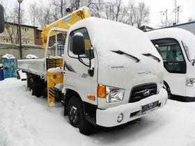 Вид 0: Hyundai HD 78 с КМУ SCS 335 с люлькой